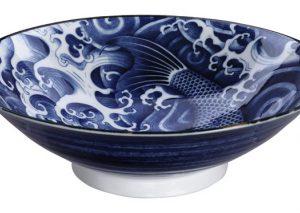 Schaal Ø 25,2 Nishikigoi blauw Tokyo design studio 171708