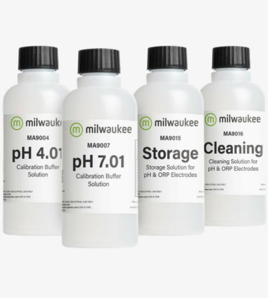 MILWAUKEE PH STARTER KIT 4 X 230 ML